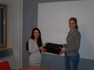 Ira Vihma Presented with NikeiD Runners by Pia Silvo Nike Retail Brand Manager